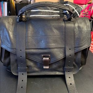 Proenza Schiller PS1 Medium Satchel Bag, Black